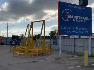 1 maintenance & supply steel banner outside