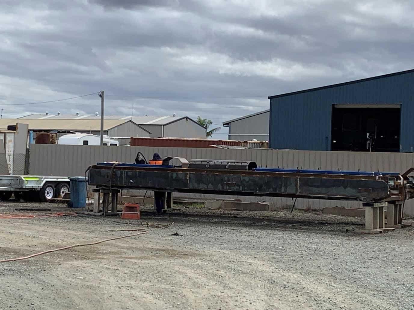 underground conveyor car in our site 1 maintenance & supply